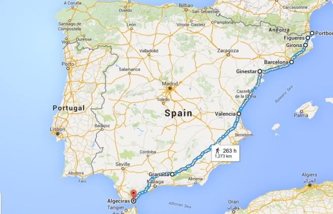 Espagne Map